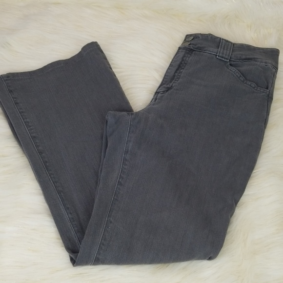 NYDJ Denim - NYDJ size 8P gray mom jeans high rise straight leg